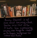 bookshelf, bunny dearest, graphic novel photo